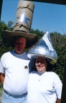Bill and Maureen Pimley participate in the Hat Parade.
