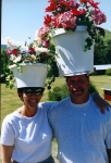 Dale and Cindy Pimley are potheads during the Hat Parade.
