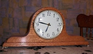 Mantle Clock built and donated by Bill Pimley