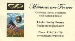 Memories are Forever Business Card