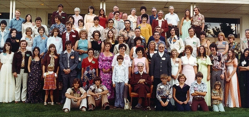 Cole Clan Reunion in Havre, Montana in July 1976