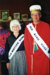 Thelma and John McLain take first prize as Old Mother Hubbard and Old King Cole during the fashion show showcasing the t