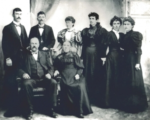 James and Mary Shinners family in about 1893. Seated: James Shinners and Mary Casey Shinners, Standing: William, Patrick