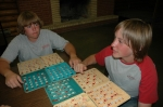 Playing multiple cards was a winning tactic during Bingo.