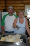 The McLains hosted the 2006 reunion.  Michale and Kenny Beck lead the reunion planning and served delicious food that wa