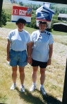 Connie Anderson and Lois Evans Go Postal during the Hat Parade.