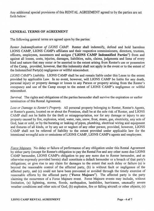 Rental Agreement Pg. 4 of 7