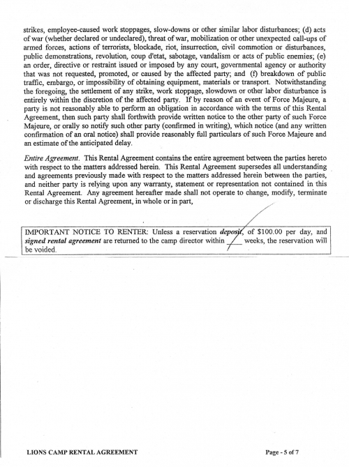 Rental Agreement Pg. 5 of 7
