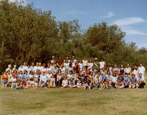 Cole Clan Family Reunion group photo 1976